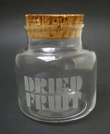 DARTINGTON GLASS DRIED FRUIT STORAGE JAR ( FT112)  DESIGNED BY FRANK THROWER  IN 1970