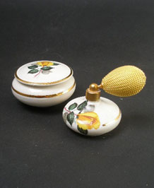 1960S BAVARIAN PORCELAIN ATOMISER AND POWDER BOWL