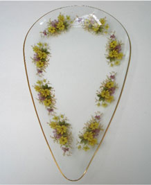 1973  CHANCE GLASS ' HEDGEROW ' PATTERN TEARDROP PLATE