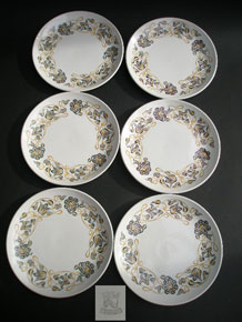 SET OF SIX POOLE 1970s 'DESERT SONG' 7 INCH PLATES