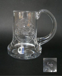 1978 DARTINGTON GLASS COMMEMORATIVE TANKARD (FT1) ' CORONATION' DESIGNED BY FRANK THROWER