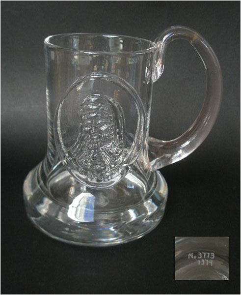 1974 Dartington Glass Commemorative Tankard Ft1 Caxton