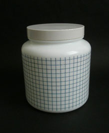 VINTAGE LARGE GLASS STORAGE JAR