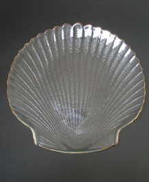 ARCOROC FRANCE  SHELL SHAPED HORS D'0EUVRES SERVING PLATE
