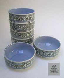 HORNSEA TAPESTRY BOWLS X 6