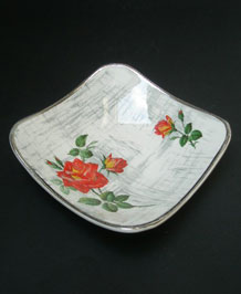 1950s MIDWINTER ROSE-MARIE CONSERVE/ JAM DISH ON FASHION SHAPE